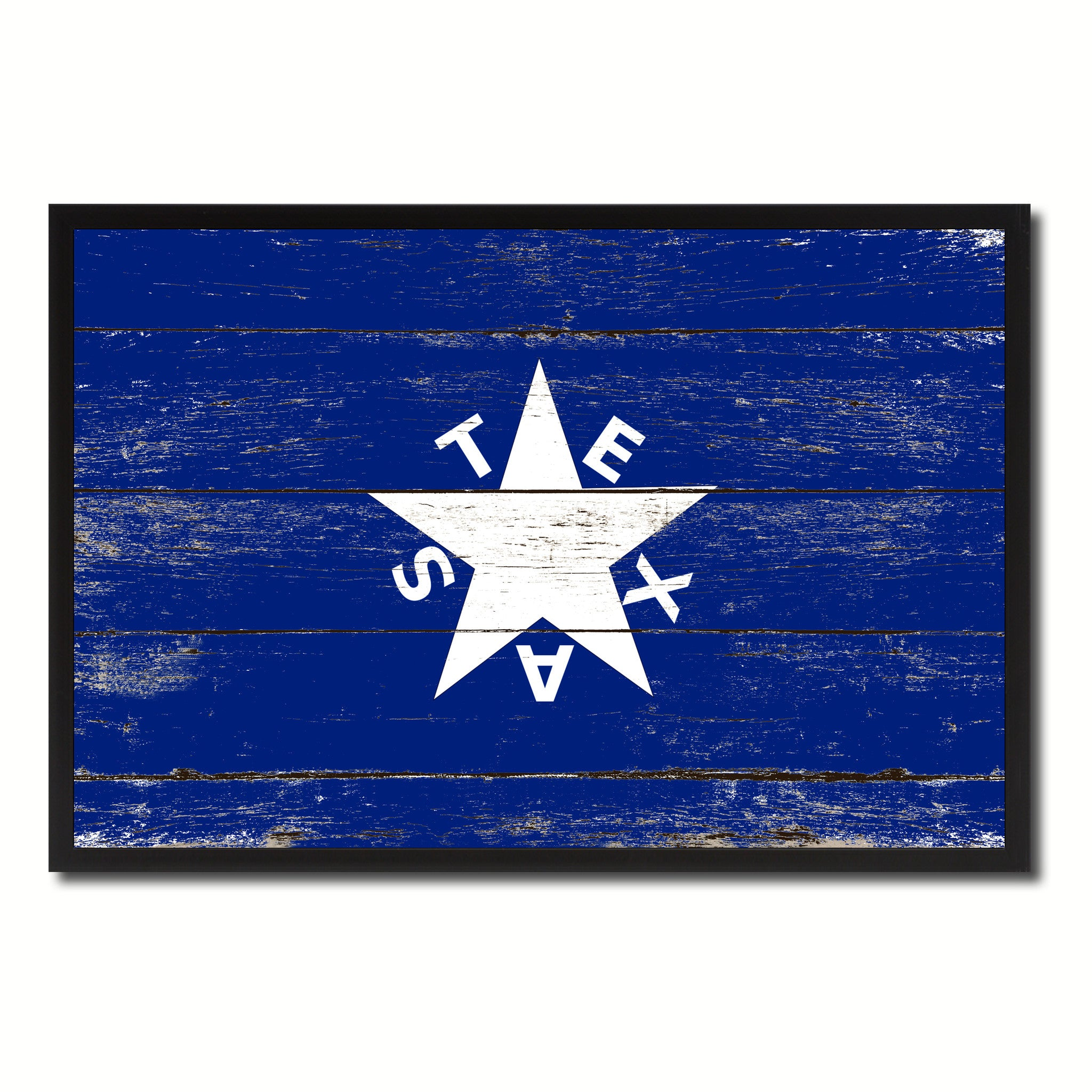 Texas History Lorenzo De Zavala Military Flag Vintage Canvas Print with Picture Frame Home Decor Man Cave Wall Art Collectible Decoration Artwork Gifts
