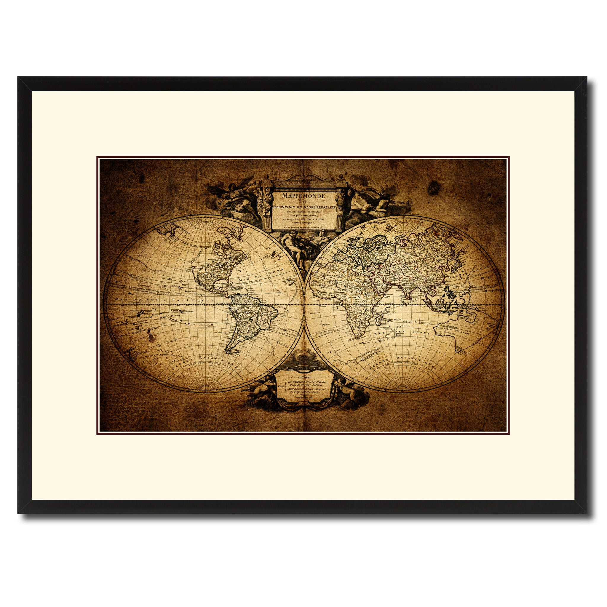 World vintage antique map wall art bedroom home decor gift ideas world vintage antique map wall art home decor gift ideas canvas print custom picture frame gumiabroncs Gallery