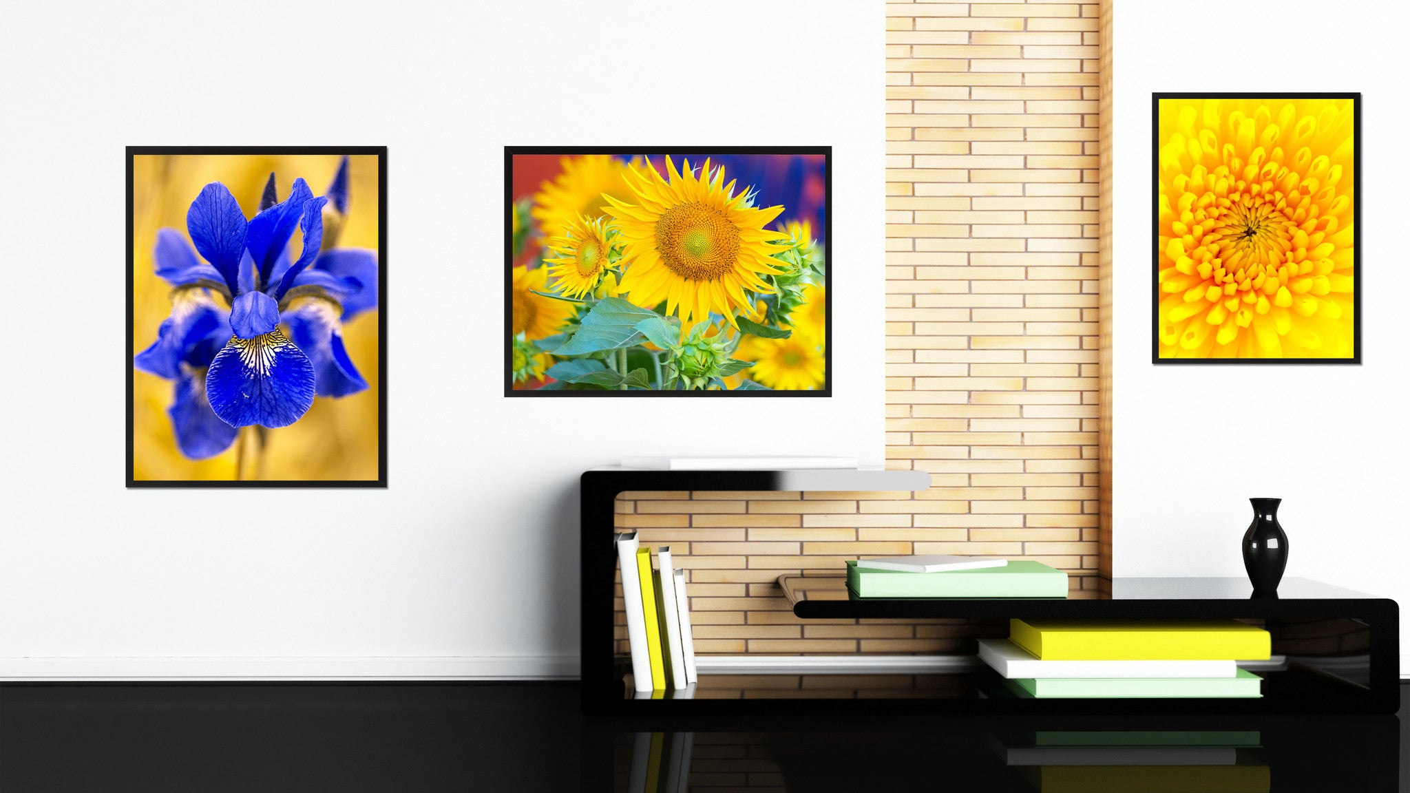 Sunflowers Flower Framed Canvas Print Home Décor Wall Art