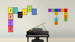 Treble Music Black Canvas Print Pictures Frames Office Home Décor Wall Art Gifts