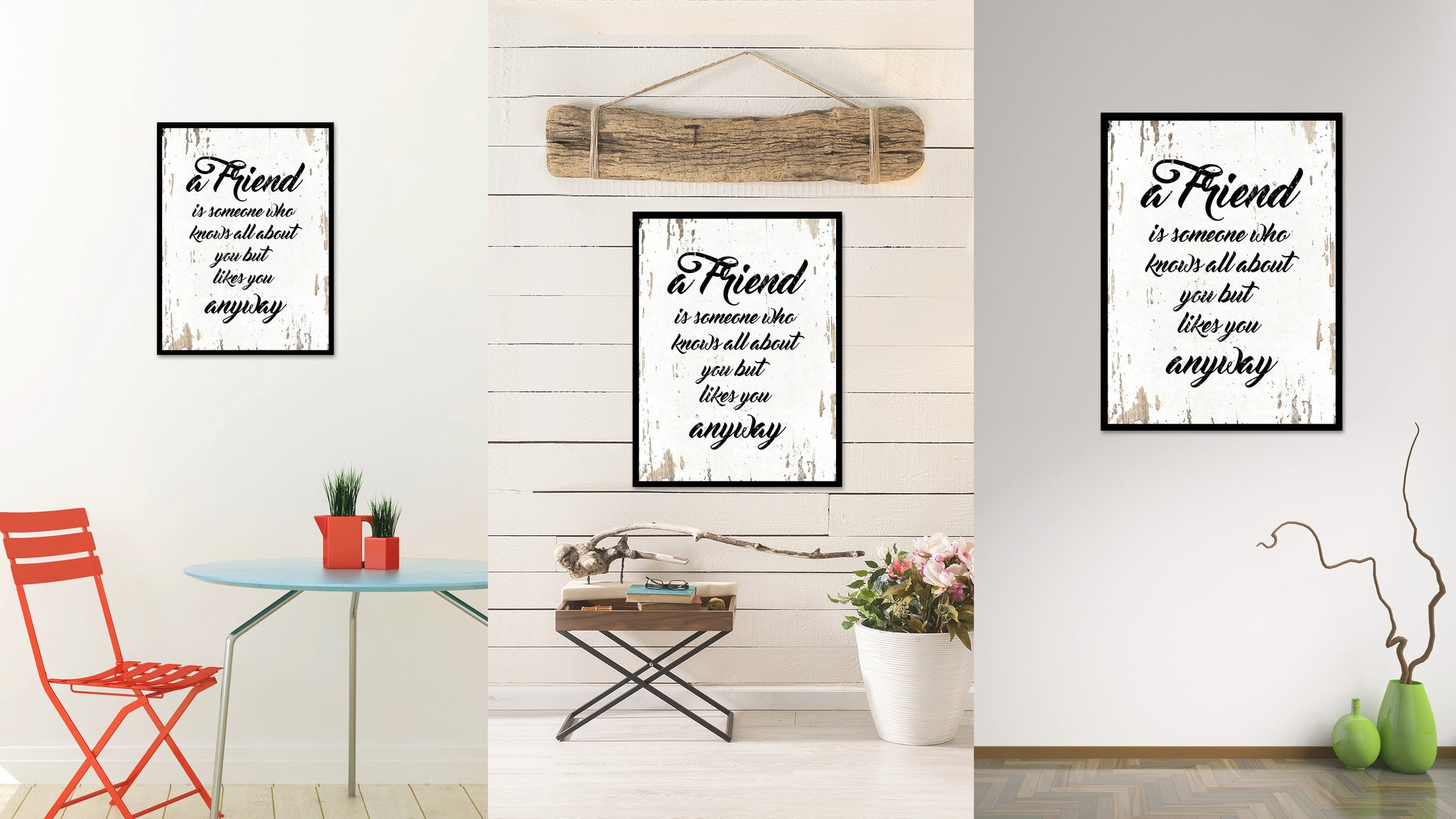 A Friend Is Someone Who Knows All About You Quote Saying Gift Ideas Home Decor Wall Art 111433
