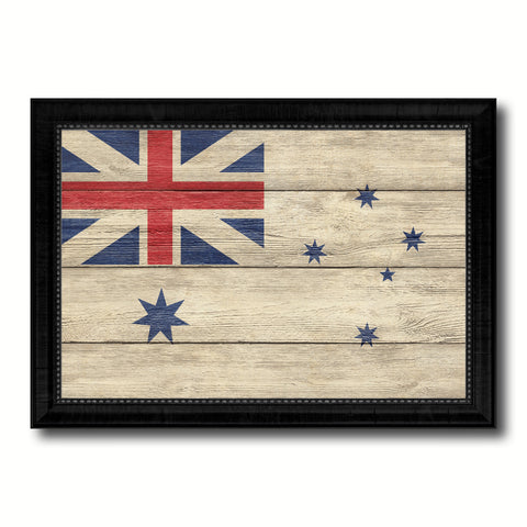 Australian White Ensign City Australia Country Texture Flag Canvas Print Black Picture Frame