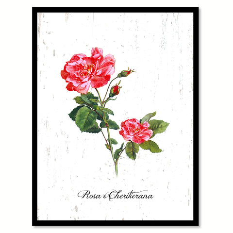 Red Rose Flower Canvas Print with Picture Frame Floral Home Decor Wall Art Living Room Decoration Gifts