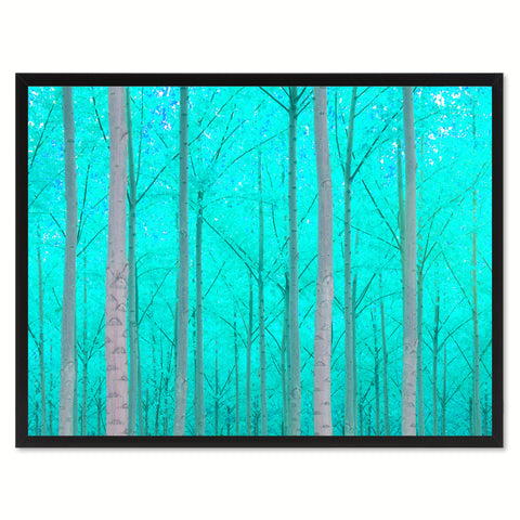 Autumn Tree Aqua Landscape Photo Canvas Print Pictures Frames Home Décor Wall Art Gifts