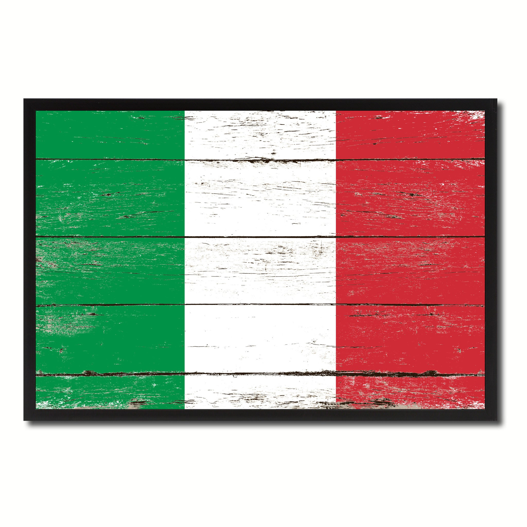 Italy Country National Flag Vintage Canvas Print with Picture Frame Home Decor Wall Art Collection Gift Ideas