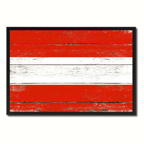 Austria Country National Flag Vintage Canvas Print with Picture Frame Home Decor Wall Art Collection Gift Ideas