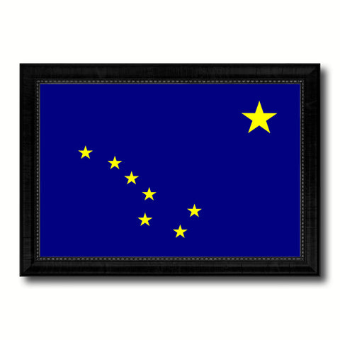 Alaska State Flag Canvas Print with Custom Black Picture Frame Home Decor Wall Art Decoration Gifts