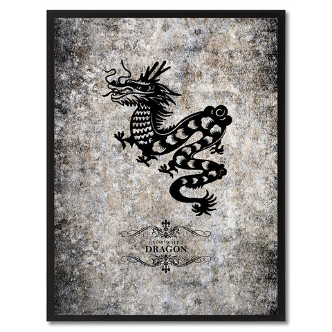 Zodiac Aries Horoscope Black Canvas Print, Black Custom Frame