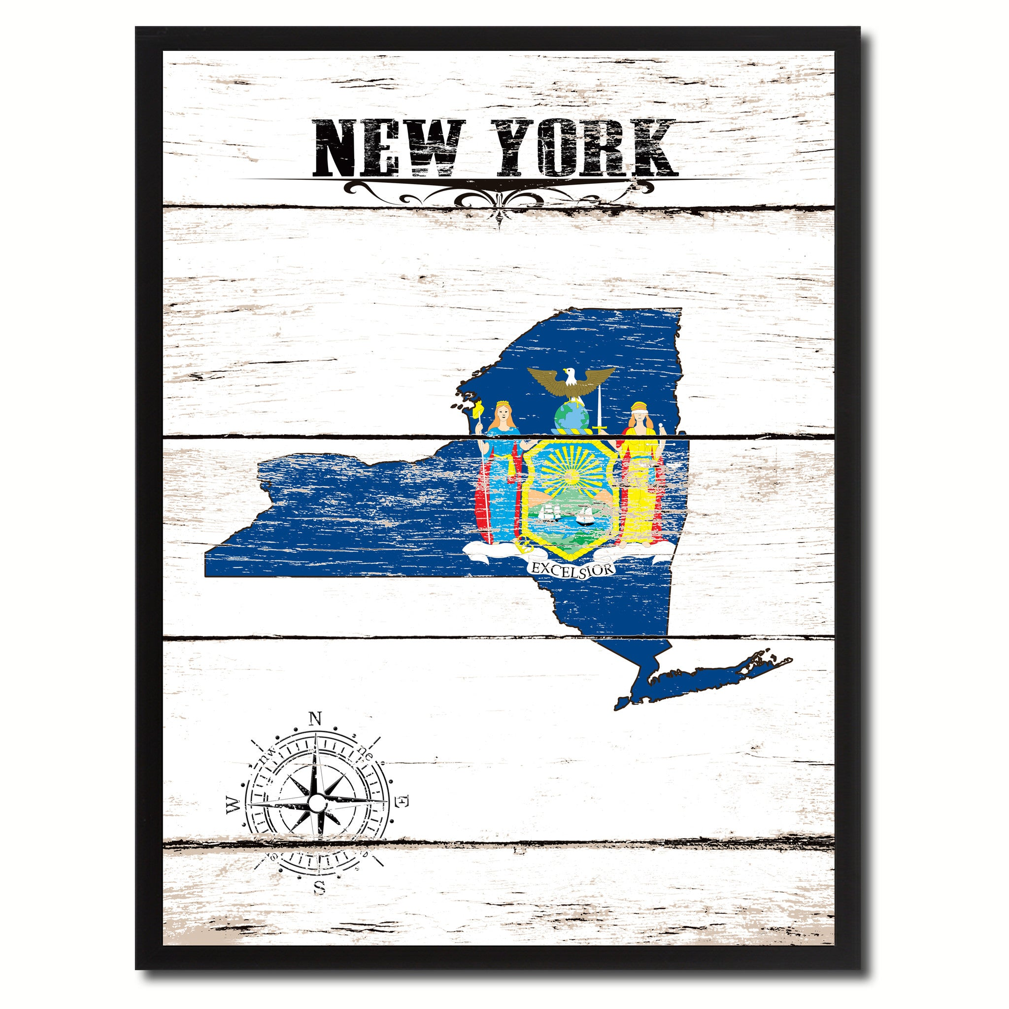 New York State Home Decor Office Wall Art Decoration Bedroom ...