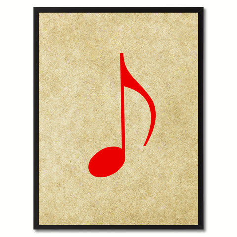 Quaver Music Brown Canvas Print Pictures Frames Office Home Décor Wall Art Gifts