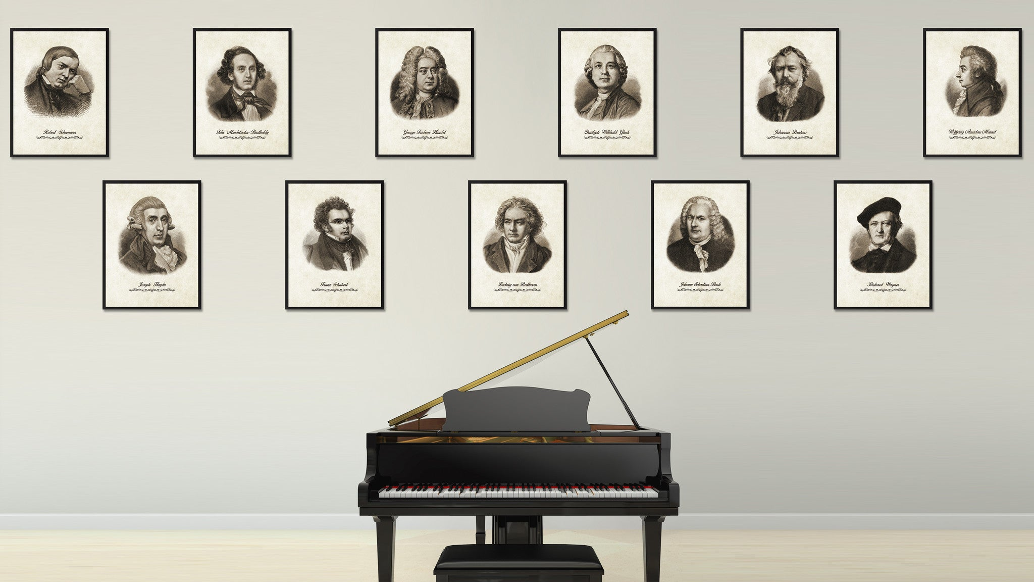 Beethoven Musician Canvas Print Pictures Frames Music Home Décor Wall Art Gifts