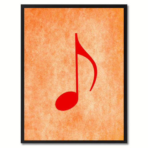 Quaver Music Orange Canvas Print Pictures Frames Office Home Décor Wall Art Gifts