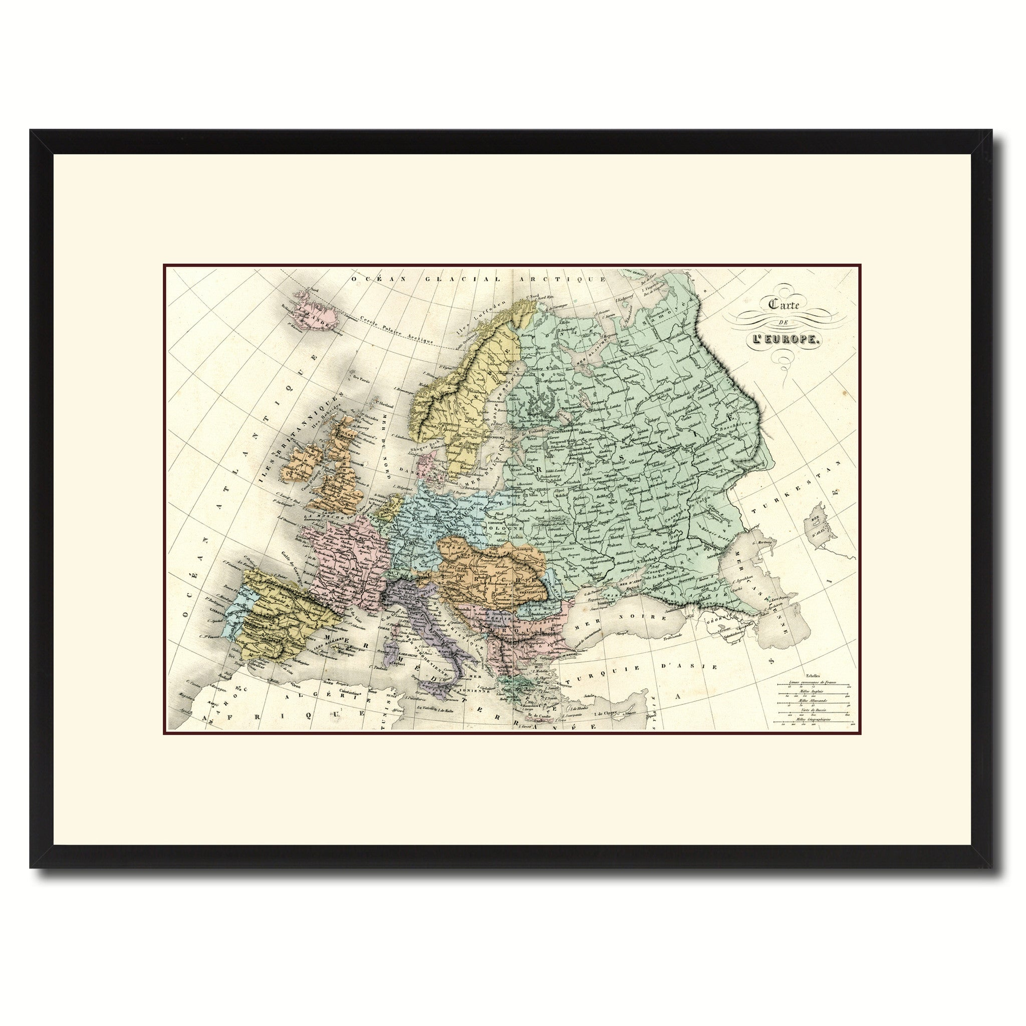 Europe Vintage Antique Map Wall Art Home Decor Gift Ideas