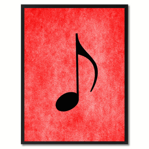 Quaver Music Red Canvas Print Pictures Frames Office Home Décor Wall Art Gifts