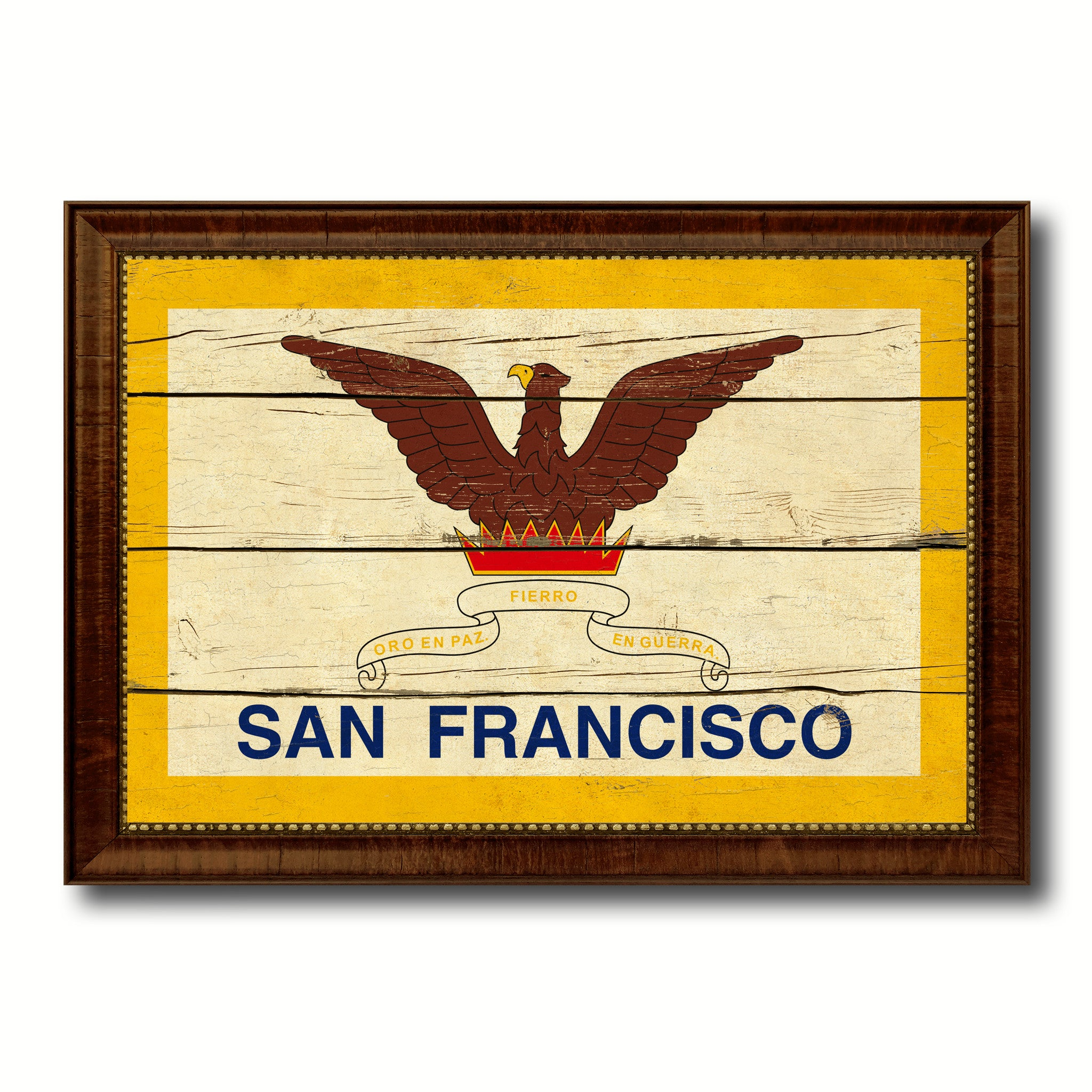 San Francisco City San Francisco State Vintage Flag Home Decor ...