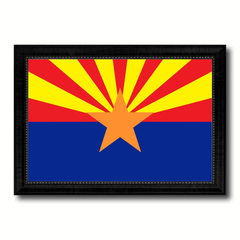 Arizona State Flag Canvas Print with Custom Black Picture Frame Home Decor Wall Art Decoration Gifts