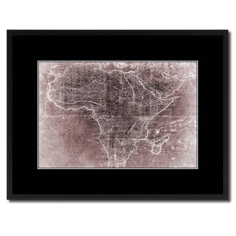 Africa Mapmaker Vintage Vivid Sepia Map Canvas Print, Picture Frames Home Decor Wall Art Decoration Gifts