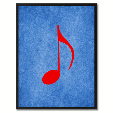 Quaver Music Blue Canvas Print Pictures Frames Office Home Décor Wall Art Gifts