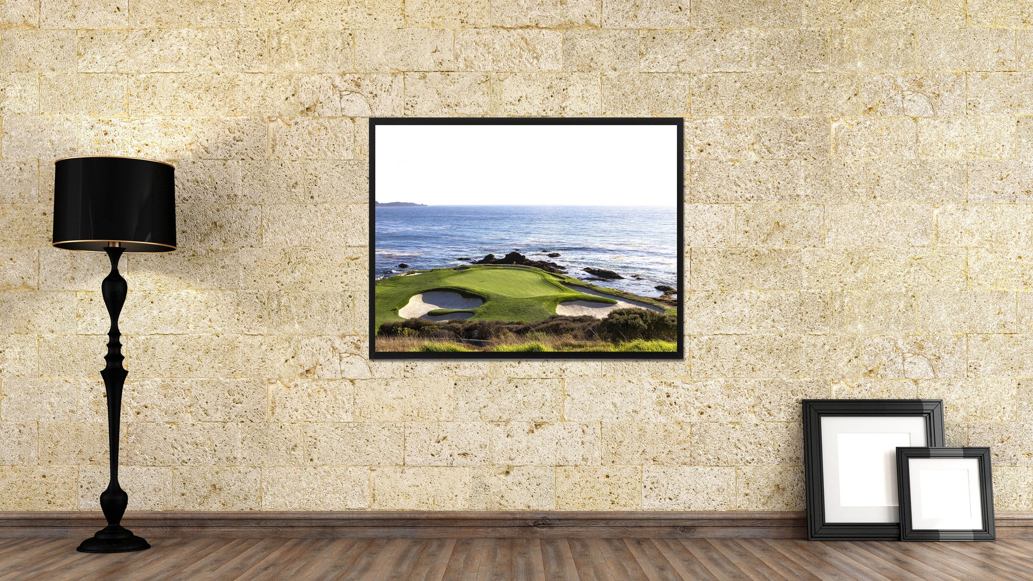 Pebble Beach Golf Course Photo Canvas Print Pictures Frames Home Décor Wall Art Gifts