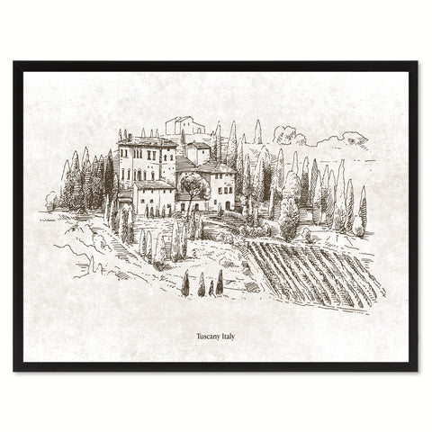 Tuscany Italy Winery Canvas Print Pictures Frames Home Décor Wall Art Gifts