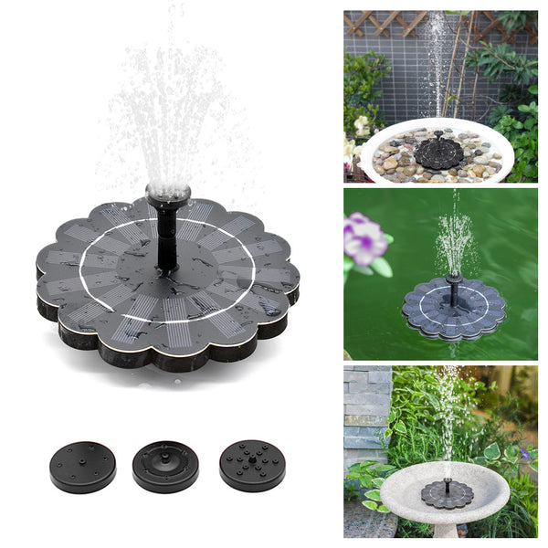 180L/H Solar Water Pump Birdbath Fountain Pump with Detachable Water Pump 4-level Water Flow Solar Powered Fountain Pump Decorative Floating Fountain with Drawstring Bag