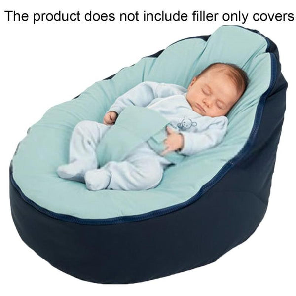 Baby Bean Bag Children Sofa Chair Cover Soft Snuggle Bed  Plush Toys Without Fillings