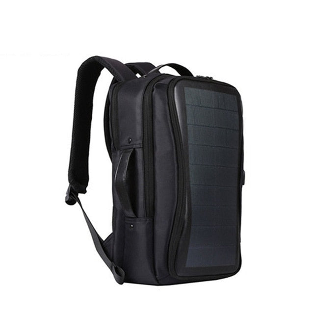 Men Solar Power Charge Backpack Laptop Daypack Business Travel Waterproof Bags B2Cshop
