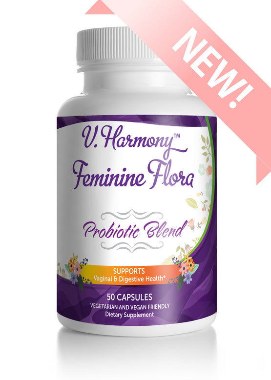 V. Harmony Feminine Flora Probiotic Supplement - For pH Balance, Digestive Health, & Bloating