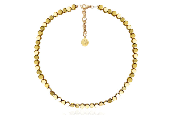 ERNA GOLD NECKLACE WITH SEMI PRECIOUS STONES