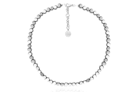 ERNA SILVER NECKLACE WITH SEMI PRECIOUS STONES
