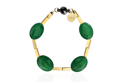 JADE GREEN BRACELET WITH SEMI PRECIOUS STONES