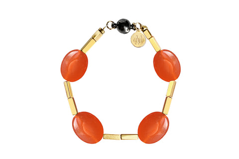 JADE ORANGE BRACELET WITH SEMI PRECIOUS STONES