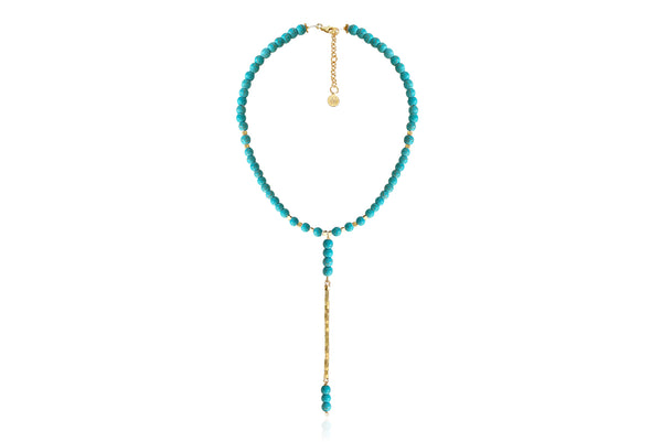 ROSIE TURQUOISE NECKLACE WITH SEMI PRECIOUS STONES