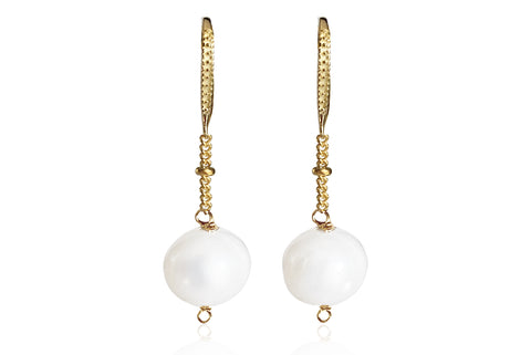 ALAIA SMALL EARRINGS WITH FRESHWATER PEARLS & SILVER 925 HOOKS