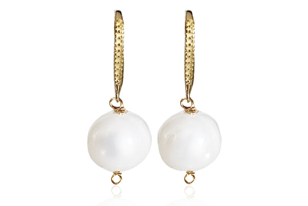 ALAIA SINGLE PEARL EARRINGS WITH FRESHWATER PEARLS & SILVER 925 HOOKS