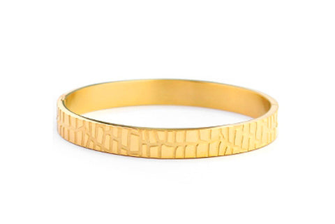 BANGLE CROCO GOLD BRACELET 8MM