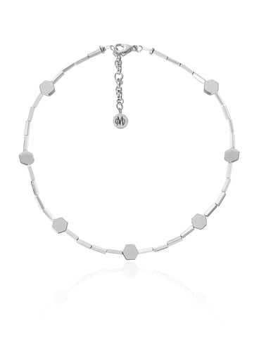 MIEL SILVER NECKLACE WITH SEMI PRECIOUS STONES
