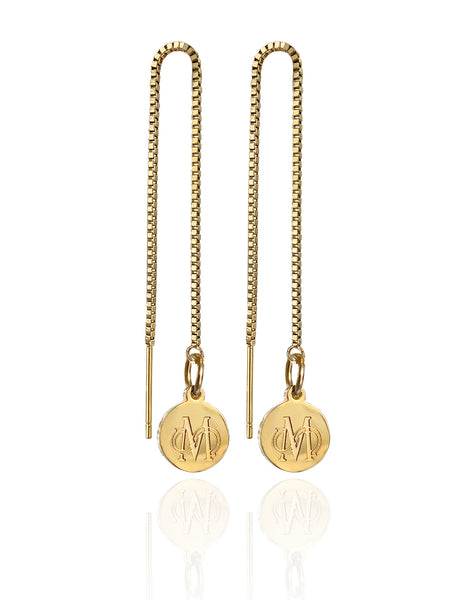 SIGNATURE GOLD CHAIN EARRINGS
