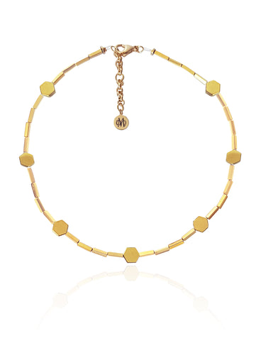 MIEL GOLD NECKLACE WITH SEMI PRECIOUS STONES