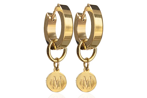 SIGNATURE GOLD EARRINGS