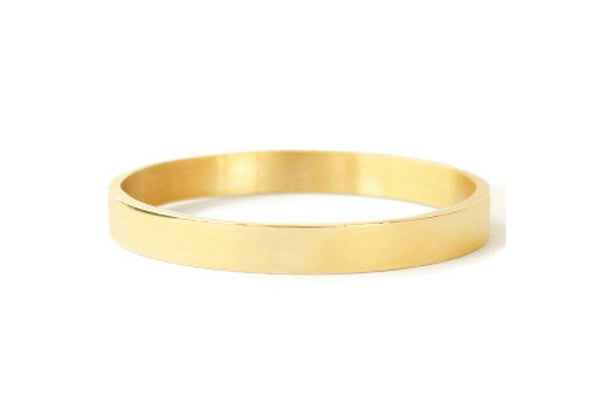 BANGLE PLAIN GOLD BRACELET 8mm
