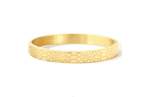 BANGLE SNAKE GOLD BRACELET 8MM