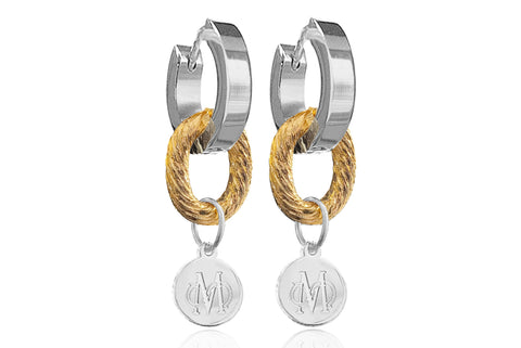 VERON SILVER & GOLD EARRINGS