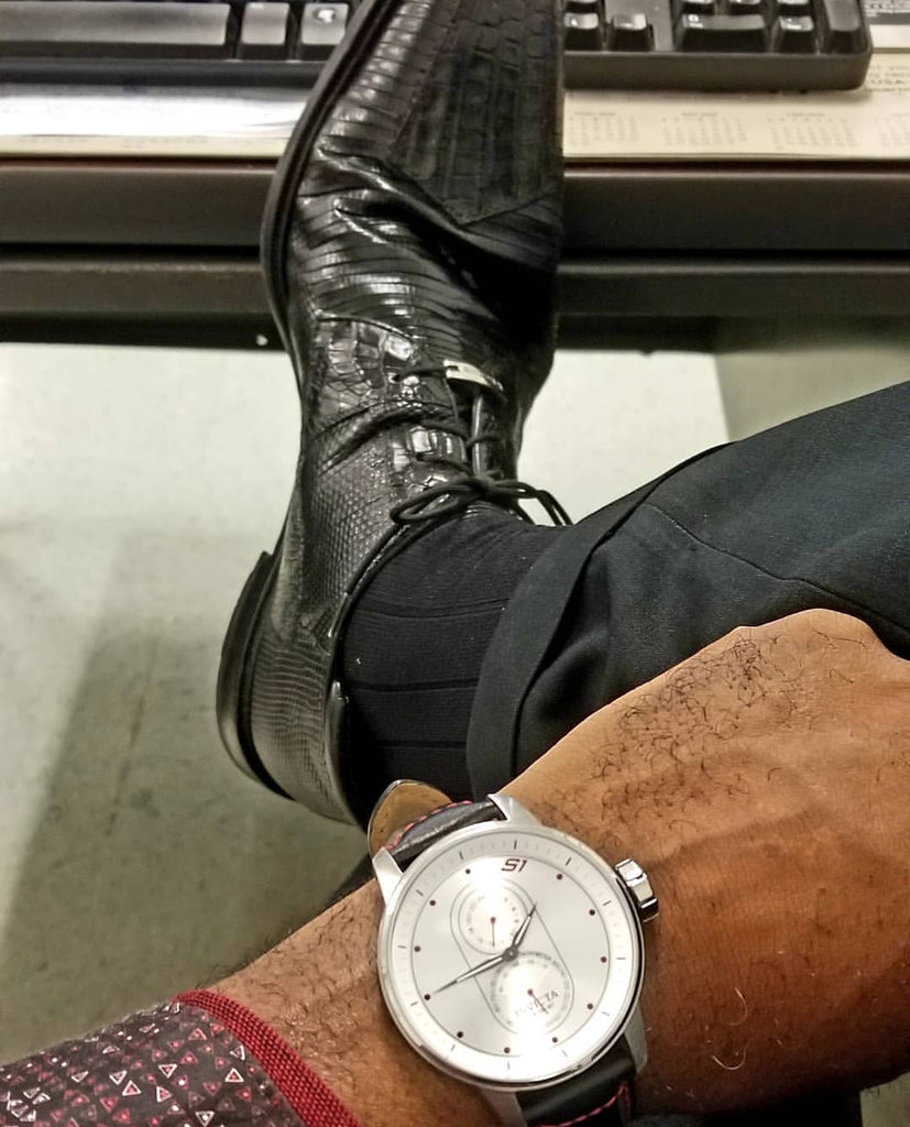 Luxurious fashion: Belvedere Shoes, Suit, luxury watch