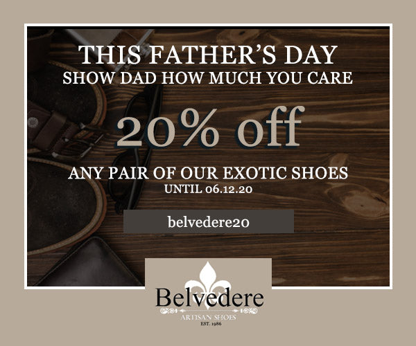 Father's Day Gift code: Belvedere Shoes