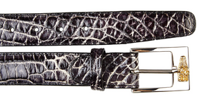 Alligator Belt- Black Rust
