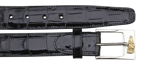 Alligator Belt- Black