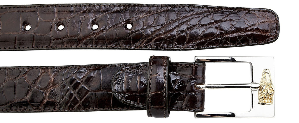 Alligator Belt- Chocolate