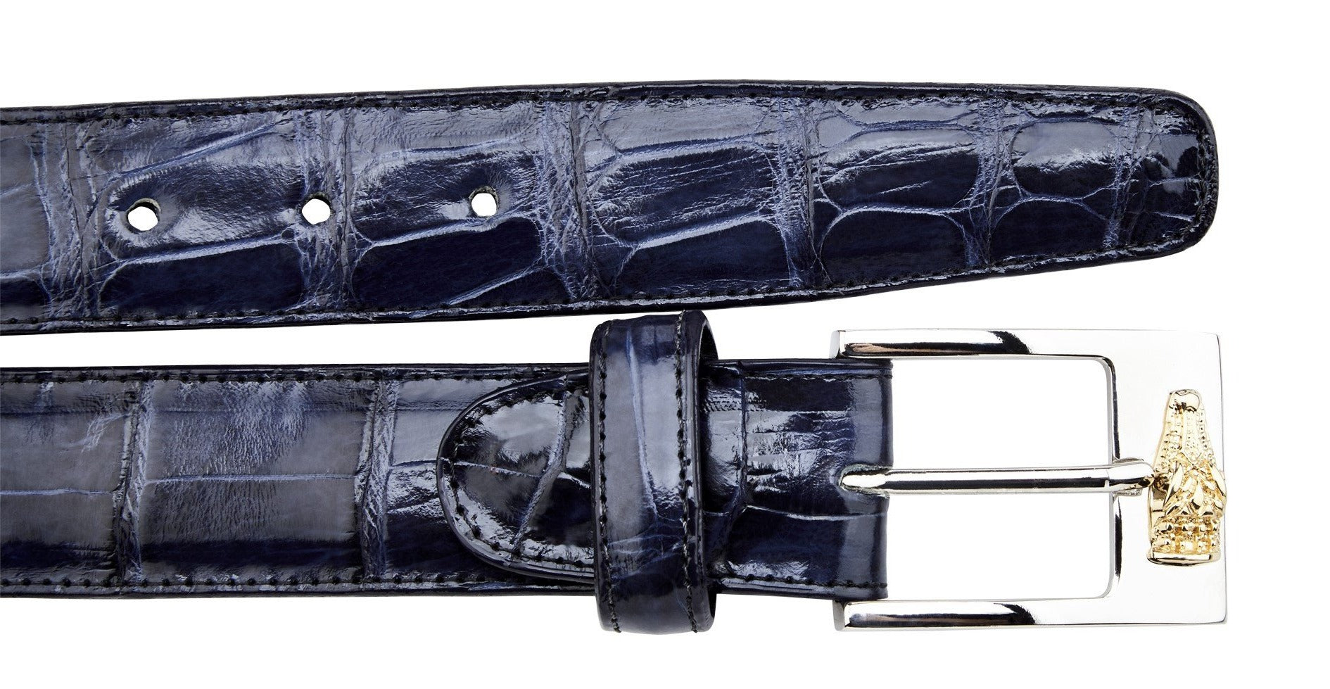 Alligator Belt- Navy