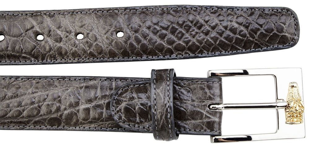 Alligator Belt-  Dark Gray